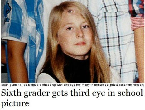 sixth grade yearbook photos eye funny - 7534394624
