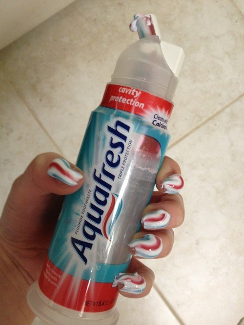 nails toothpaste funny - 7534406912