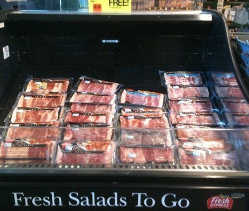 funny,bacon,salad