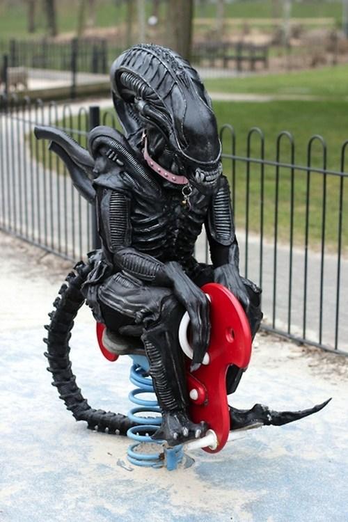 Aliens,nerdgasm,playground,funny