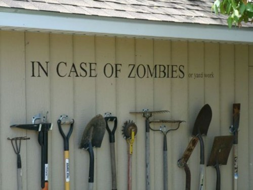 gardening,nerdgasm,zombie,shed,funny,g rated,win