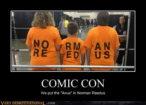 comic con booty norman reedus funny - 7534440960