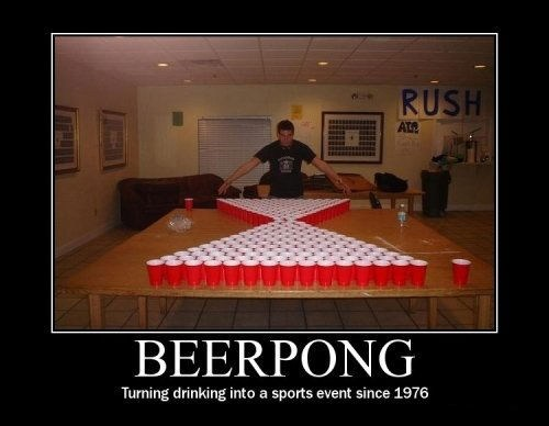 drinking sports beer pong funny - 7534682368