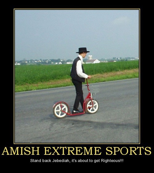 extreme sports righteous amish funny - 7534736384