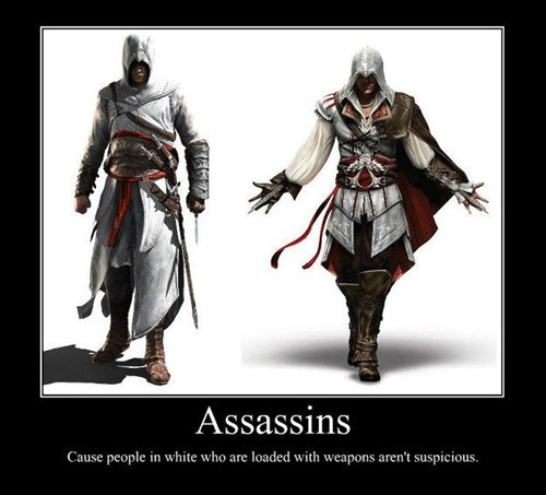 suspicious,assassins creed,video games,funny