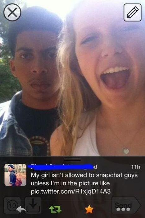 snapchat phones jealous funny - 7534985472