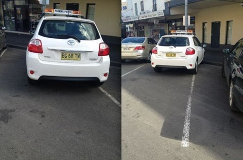 irony funny parking