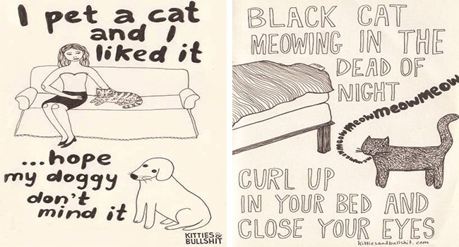 classic songs illustrated with cats