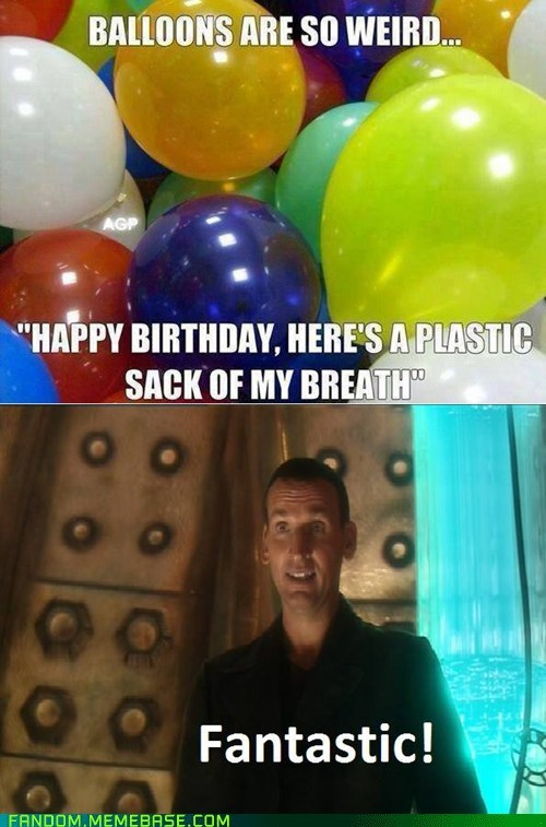 Balloons doctor who 9th doctor - 7535181056