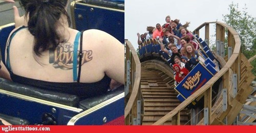 wtf text tattoos roller coasters funny - 7535767040