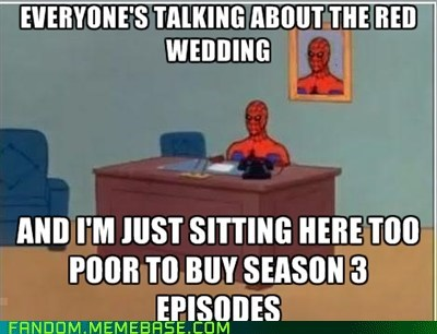 red wedding,Game of Thrones,Spider-Man
