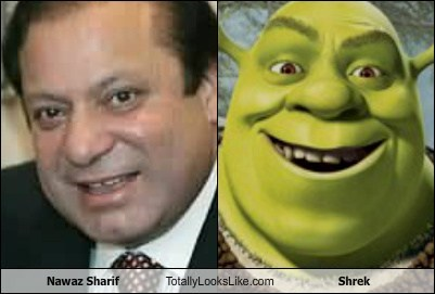 nawaz sharif,totally looks like,shrek,funny