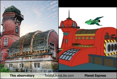 observatory,planet express,totally looks like,futurama,funny