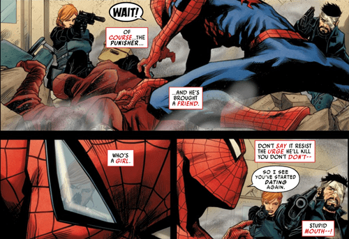 punisher Spider-Man off the page funny - 7536876032
