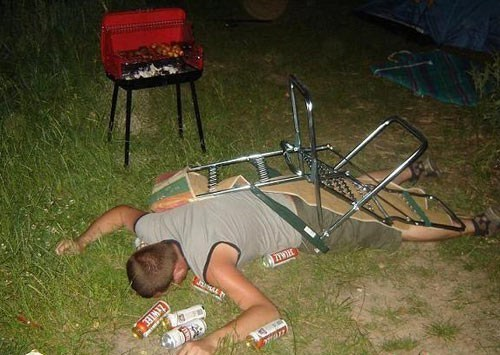 drunk summer grilling camping funny - 7536887040