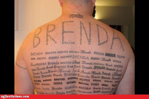 ff8038097 Classic: Brenda Was Her Name - Ugliest Tattoos - funny tattoos | bad ...