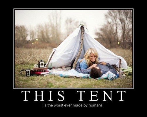 wtf tent camping idiots funny - 7537164288