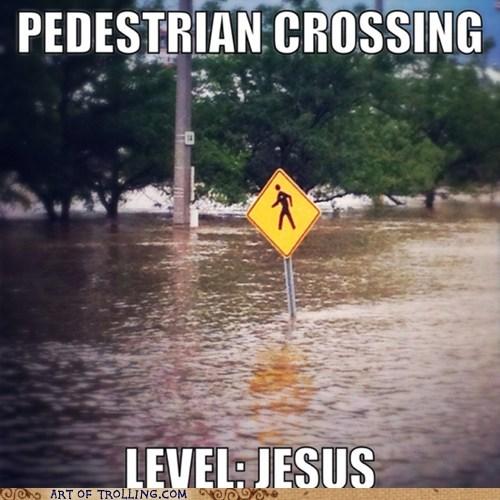 jesus pedestrians funny - 7537294336