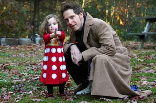 dads dalek cosplay doctor who funny g rated parenting - 7537512448