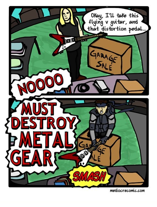 Music,comics,heavy metal,metal gear