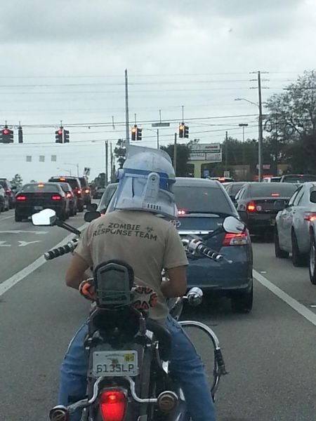 bikers,zombie,cool helmets,funny