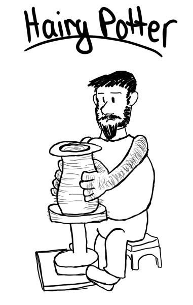 hairy Harry Potter pottery wheel puns funny - 7537611264