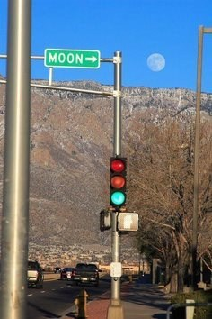 photobomb perfectly timed funny moon street sign - 7537635584