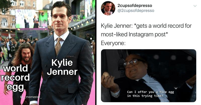Funny memes, egg, instagram, kylie jenner.