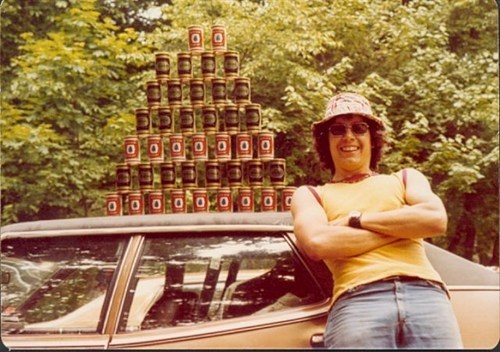 beer car awesome 70s cans funny - 7537717760