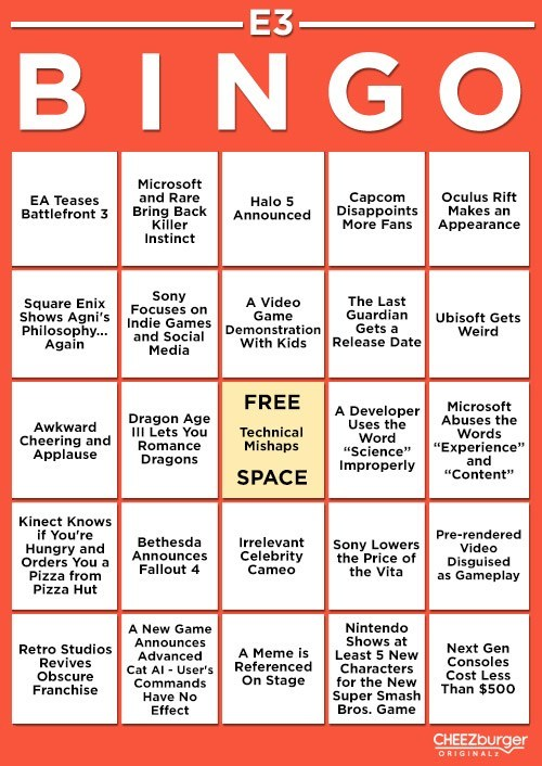Get Ready for E3 2013 With E3 Bingo