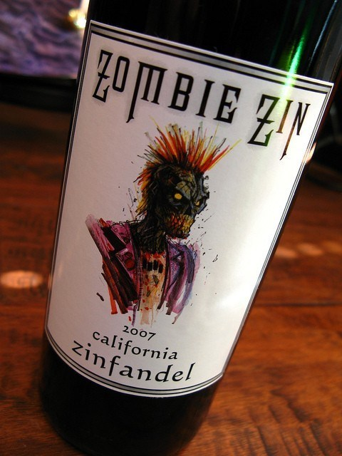 wine label undead zombie funny - 7537906176