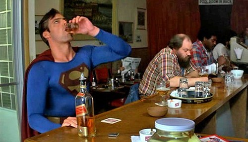 whiskey,bad day,funny,superman