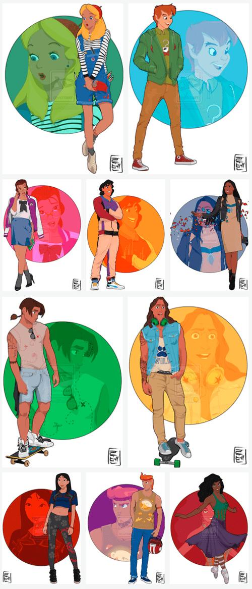 disney school movies Fan Art relationships cartoons - 7538006528