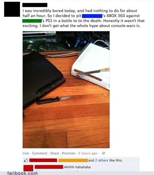 console wars,video games,xbox 360,funny,ps3,failbook,g rated