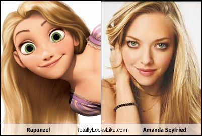 Amanda Seyfried totally looks like rapunzel funny