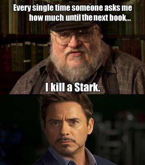 Game of Thrones,tony stark,iron man,george r r martin