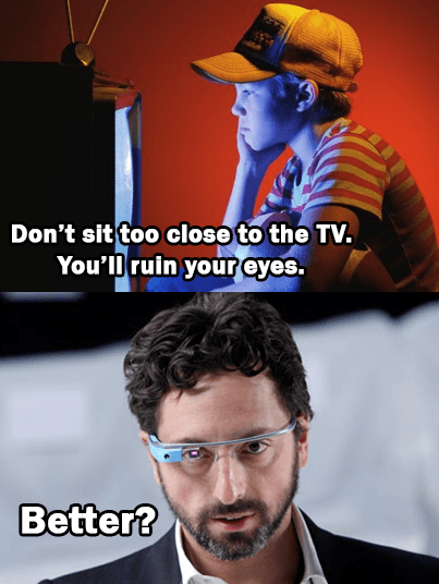 TV,parents,google glass