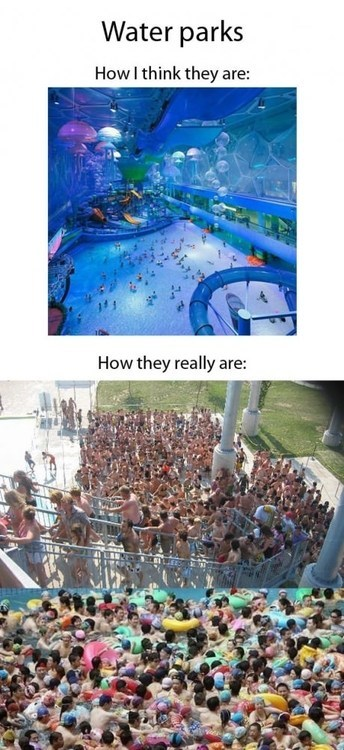 summer waiting lines water park - 7538145024