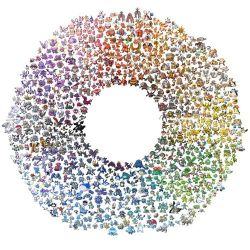 Pokémon color wheel - 7538190592