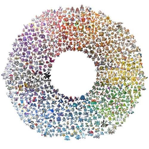 Pokémon color wheel - 7538190592