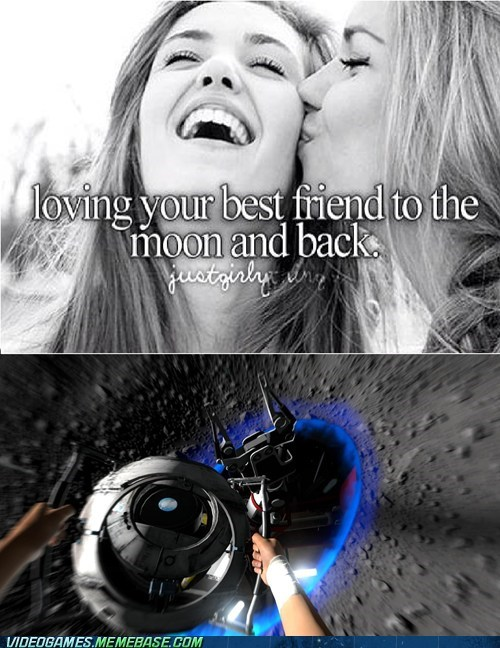 the moon,Portal,funny