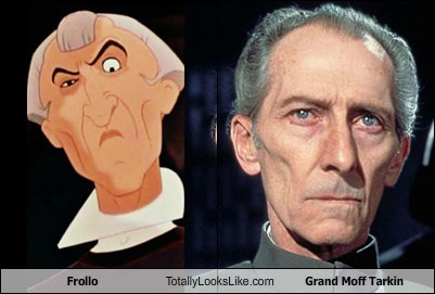 grand moff tarkin,frollo,totally looks like,funny