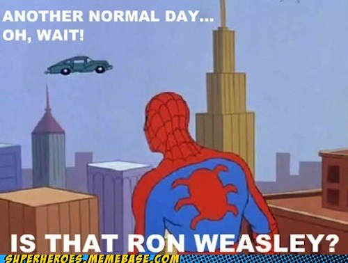 Harry Potter,flying car,Ron Weasley,funny
