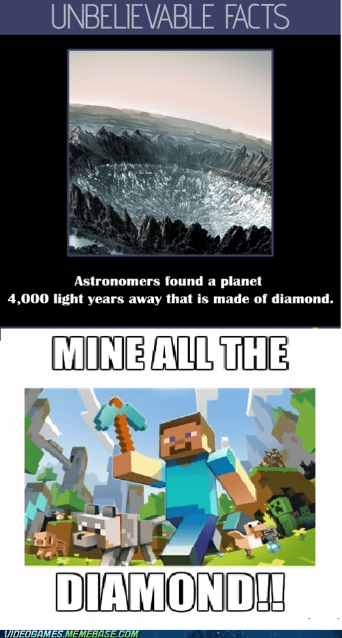 facts IRL diamonds minecraft