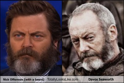 davos seaworth,totally looks like,Nick Offerman,funny