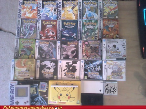 collections,Pokémon,jealous,IRL,handhelds,video games