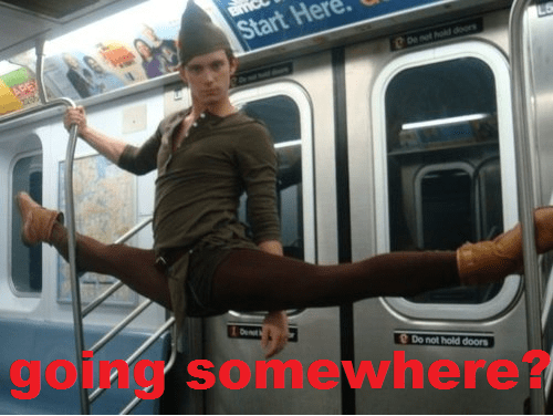 subways,peter pan,costume,funny