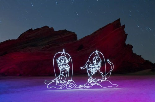 photography light art nerdgasm simpsons exposure time - 7541699328