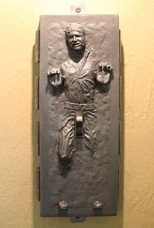 star wars,light switch,design,nerdgasm,Han Solo