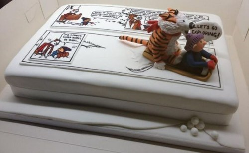 cake calvin and hobbes design funny g rated win - 7541735936
